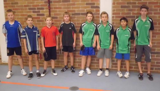 Tischtennis-Schülermannschaften aus Groß Lindow und Woltersdorf