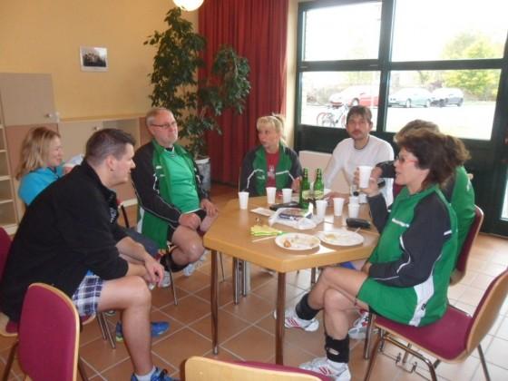 SVW-Mannschaft zur Pause in Erkner