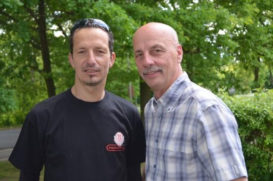 Stefan Stu Thoms mit seinem Sponsor Willi Diener