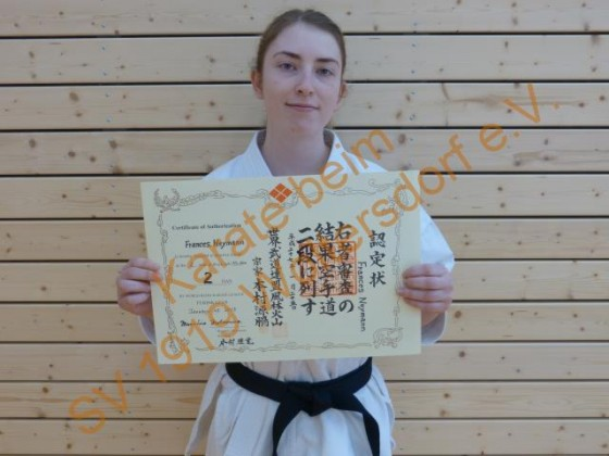 Frances Neyman 2.Dan Karate