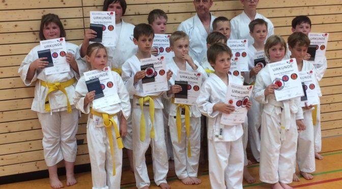 Karate-Sportabzeichen-Prüfungen